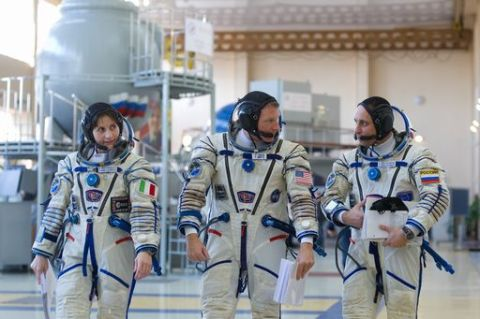 RUSSIA-USA-EU-SPACE-ISS-TRAINING
